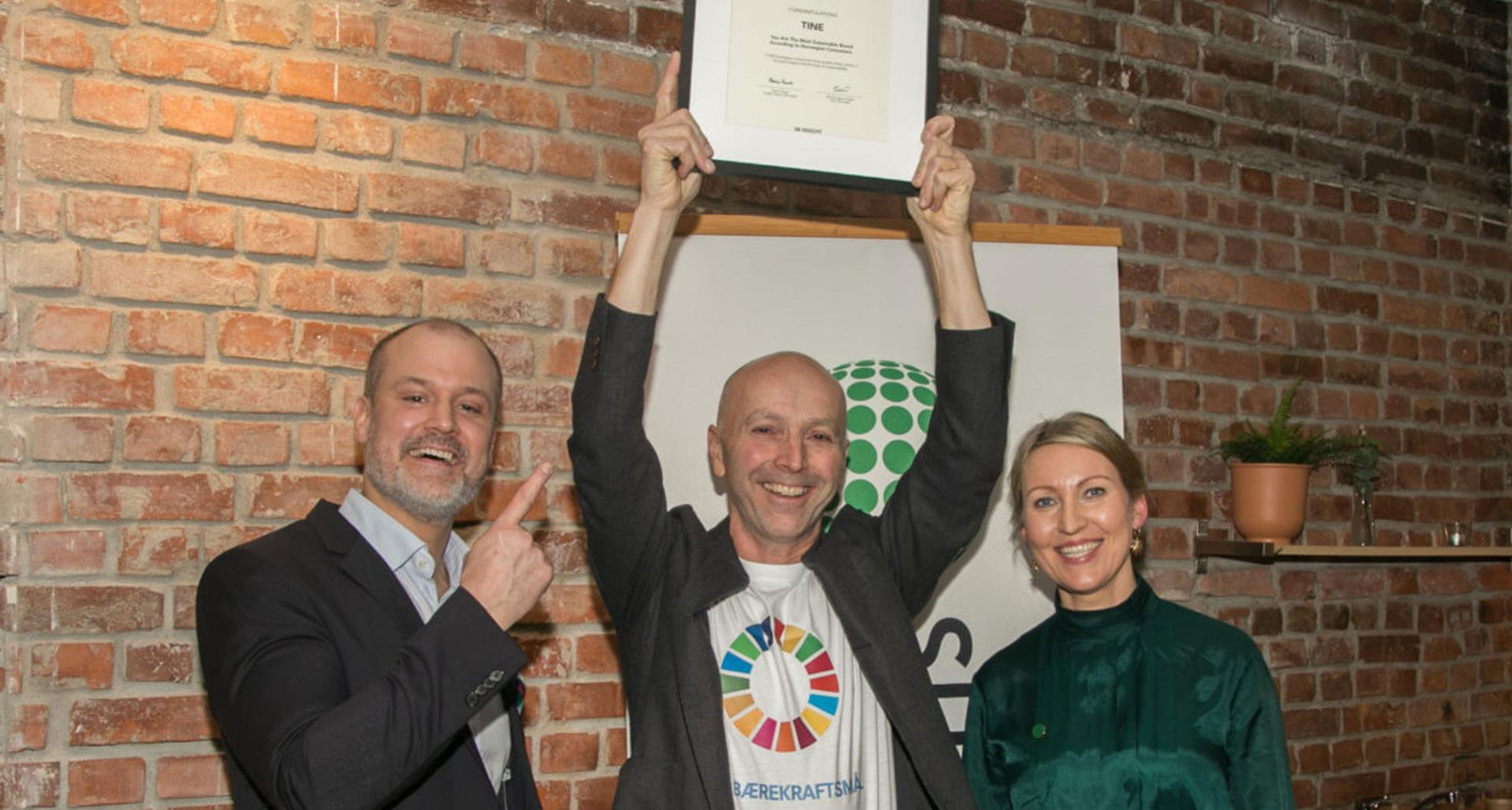 "TINE Awarded ""Most Sustainable Company"" by Norweigian Consumers in 2019"