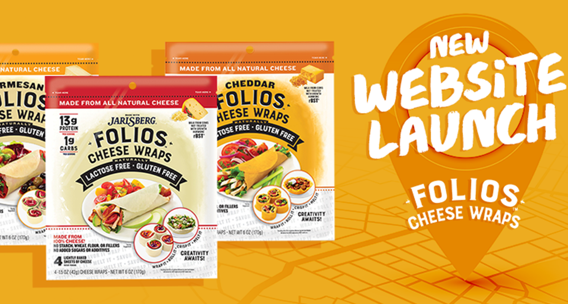 Folios™ Cheese Wraps Launches a New Website with a Major New Feature